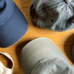 5個の並んだ帽子