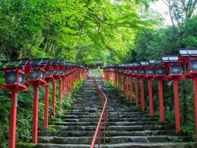 貴船神社の石段(京都)